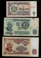 BULGARIA BANKNOTE - 3 USED NOTES 1974 (NT#06) - Bulgaria