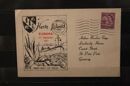 Herm Island; EUROPA 1961, 6 Werte, FDC; Lesen - Europäischer Gedanke