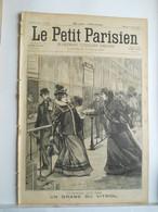 LE PETIT PARISIEN N°420 - 21 FEVRIER 1897 - DRAME AU VITRIOL GARE DU NORD PARIS - CRETE COMBAT A LA CANEE - 1850 - 1899
