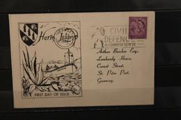 Herm Island; EUROPA 1962, 3 Werte, Gezähnt, FDC; Lesen - Europäischer Gedanke