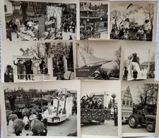 Chagny  - Mi-carême 1952 - Lot De 9 Photos - Places