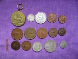 Ethiopia: Lot 12 Coins + 1 Medal Menelik II & Haile Selassie 1903 - 1945 (2 Silver) - Ethiopia