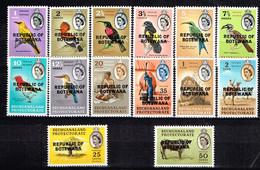 "BOTSWANA/ Neufs**/MNH**/ 1966 - Série Courante Surchargée ""Republic Of Botswana"" - Botswana (1966-...)"
