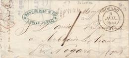 LETTRE. 3 JUIL 1840. GERS NOGARO. CURSIVE 31/Aignan. DE LUPIAC POUR ARBLADE LE HAUT. TAXE LOCALE 1 - 1801-1848: Precursors XIX