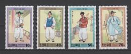 (S1896) NORTH KOREA, 2001 (Traditional Men's Costumes From Ri Dynasty). Complete Set. Mi ## 4419-4422. MNH** - Korea, North