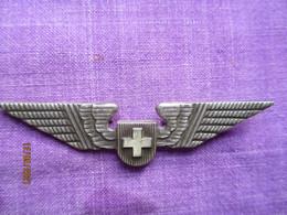 Suisse: Badge De Pilote Swissair 1970s - Altri