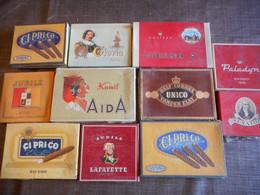 Lot Boite Tabac En Carton - Tabaksdozen (leeg)