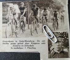 WIELERSPORT..SINTE MARIABURG..1935.. KEPPENS / JOOSSENS/ SCHENKELS/ FLEURBAY - Non Classificati