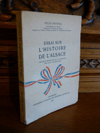 PONTEIL / ESSAI SUR L'HISTOIRE DE L'ALSACE / 1948 - 1901-1940