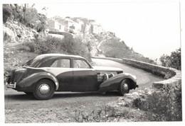 SAINT CEZAIRE ET ENVIRONS SUR VERITABLE PAPIER PHOTO REPRODUCTION VIEILLE VOITURE AMERICAINE CORD IMMATRICULEE 591 MD4 - Automobili