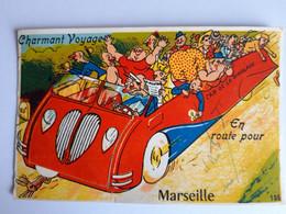 CPSM - (13) Marseille - Carte à Système, Dépliante à Multi-Vues, Car De La Rigolade - édit. GABY, écrite Au Dos - Non Classificati