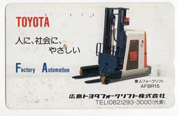 TELECARTE JAPON ELEVATEUR TOYOTA - Autres