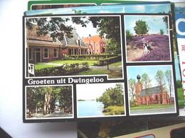 Nederland Holland Pays Bas Dwingeloo Met Blauwe Meer En Gezellige Huizen - Dwingeloo