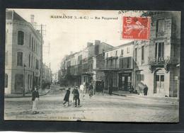 CPA - MARMANDE - Rue Puygueraud, Animé - Diligence - Marmande