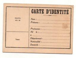 Carte D'identité Avec Signalement Vierge Et Cartonnée - Format : 11.5x8cm - Non Classificati