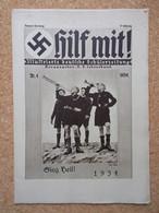 """Germany 1933-45; """"Hilf Mit!"""" - Illustrierte Deutsche Schuelerzeitung, NSDAP Nr.4 1934 - 1939-45"""