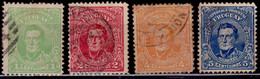 Uruguay, 1913, National Hero - Artigas, Sc#201-204, Used - Uruguay