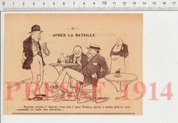 Humour De 1914 Homme Politique Député Après Les élections Législatives Boisson Absinthe Sucre Sur Cuillère  198PF54 - Non Classificati