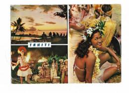 TAHITI Coucher De Soleil Sur Moorea Hotel Tahiti Danseuses - Tahiti