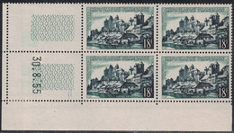 UZERCHE - N°1040 - BLOC DE 4 - COIN DATE - DU 30-8-1955 - COTE 5€. - 1950-1959