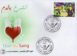 Algérie 2017 FDC 1790 Don Du Sang - Argelia (1962-...)