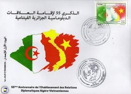 Algérie 2017 FDC 1791 55e Anniversaire De L'établissement Des Relations Diplomatiques Algéro-vietnamiennes - Argelia (1962-...)