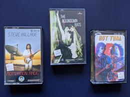 3 K7 Audio :  Steve Hillage,The Boomtown Rats, Hot Tuna. En TB état. - Cassette