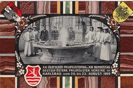 Österreich Postkarte Privat 1909 Philatelistentag - Covers & Documents