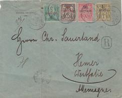 Franzozische Post Marokko R Brief 1892 (mit Mängeln) - Cartas