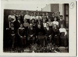 Photo Sur Carton Réunion Du Personnel Enseignant De Chapelle-lez-Herlaimont En 1919 - Chapelle-lez-Herlaimont