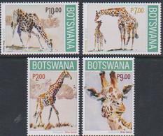 BOTSWANA, 2020, MNH, FAUNA, GIRAFFES,4v - Giraffes