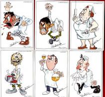 METIER SUR LA MEDECINE  -  ILLUSTRATION DE DELESTRE -  SERIE DE 12 CARTES MODERNES  -  CARTES FANTAISIES - Health