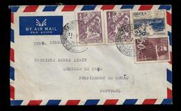 PORTUGUESE ANGOLA LETTER - CARTA 1951 - CORREIO AEREO (STB7#01) - Angola