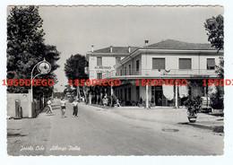 JESOLO LIDO - ALBERGO ITALIA F/GRANDE VIAGGIATA 1953 ANIMAZIONE - Venezia (Venice)