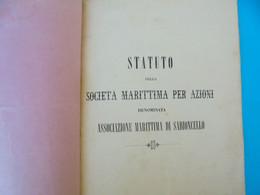 PELJESAC MARITIME SOCIETY (Assoc. Marittima Di Sabioncello) STATUTE (1865) PELJ. POMOR. DRUSTVO Orebic Croatia Dubrovnik - Non Classificati