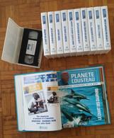 """LOT COMPLET De 11 Cassettes VHS Et 11 Brochures """"PLANETE COUSTEAU"""" Edit. ATLAS 1994 - TBE - Documentary"""