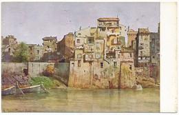 """2d.128.  ROMA - Collezione """"Roma Sparita"""" - Vecchie Case Sul Tevere... - Panoramic Views"""