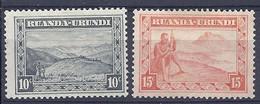 210038986  RUANDA-URUNDI.  YVERT  Nº  92/3  */MH - 1924-44: Mint/hinged