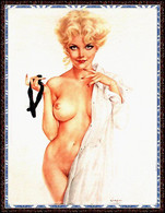 Postcard 4x6 Inc ( 10 X 15 Cm ) Erotic Sexy Extremely Stunning Glamour Beauty Pin-Up Girl Art-2-P0189 - Pin-Ups