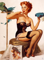 Postcard 4x6 Inc ( 10 X 15 Cm ) Erotic Sexy Extremely Stunning Glamour Beauty Pin-Up Girl Art-P0944 - Pin-Ups