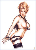 Postcard 4x6 Inc ( 10 X 15 Cm ) Erotic Sexy Extremely Stunning Glamour Beauty Pin-Up Girl Art-P1543 - Pin-Ups