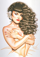 Postcard 4x6 Inc ( 10 X 15 Cm ) Erotic Sexy Extremely Stunning Glamour Beauty Pin-Up Girl Art-P1556 - Pin-Ups