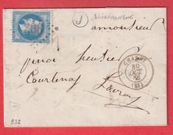 N°29 GC 902 CHARNY YONNE BOITE RURALE J VILLEFRANCHE POUR COURTENAY LOIRET - 1849-1876: Klassik