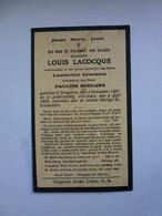 LACOCQUE LOUIS ° TONGEREN 1857 + TONGEREN 1929 - Devotion Images