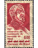 Ref. 57771 * MNH * - BRAZIL. 1963. 150th ANNIVERSARY OF THE BIRTH OF THE VISCOUNT OF MAUA . 150 ANIVERSARIO DEL NACIMIEN - Treni