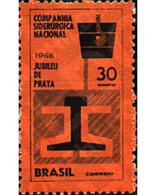 Ref. 57776 * MNH * - BRAZIL. 1966. 25TH ANNIVERSARY OF THE NATIONAL STEEL COMPANY . 25 ANIVERSARIO DE LA COMPANYIA SIDE - Treni