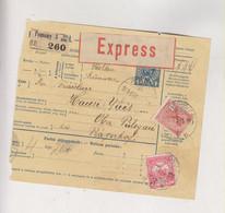 HUNGARY 1913 SLOVAKIA POZSONY BRATISLAVA Nice Parcel Card - Cartas