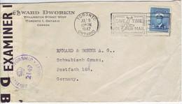 CANADA  Zensurbrief Censored Cover 1947 To Germany - Cartas