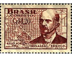 Ref. 57764 * MNH * - BRAZIL. 1953. CENTENARY OF THE BIRTH OF AARAO REIS . CENTENARIO DEL NACIMIENTO DE AARAON REIS - Treni