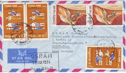 THAILAND  Luftpostbrief  Airmail Cover 1974 To Germany   Mais  Trachten - Thailand